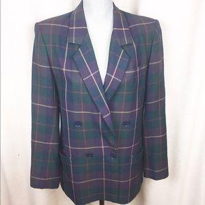 Vintage Wool Plaid Jones New York  blazer 10